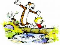 Calvin and Hobbes always got a lot of exercise - a great way for Calvin to deal with his existential angst!